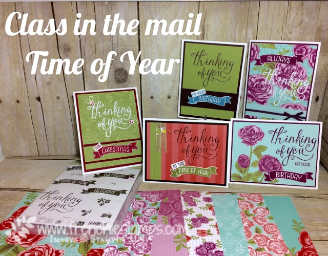 Time of the Year, Stampin'Up! class in the mail with Frenchie