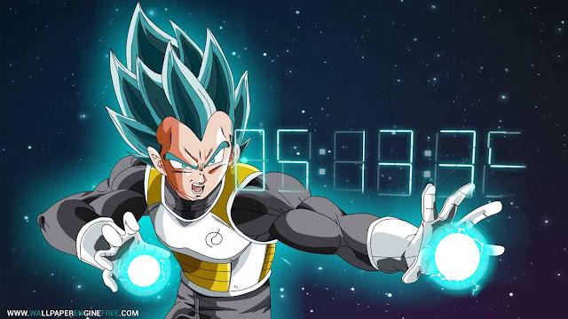 Dragon Ball Vegeta Digital Clock Wallpaper Engine