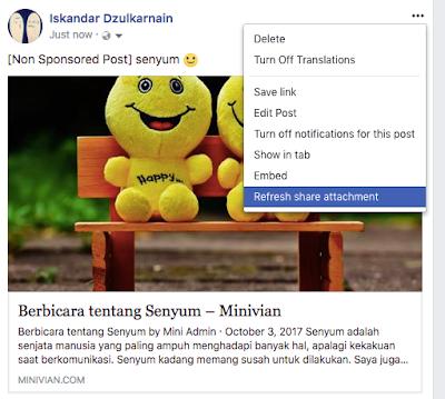 Kegunaan Refresh Share Attachment Di Facebook