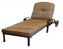 Mandalay Cast Aluminum Powder Coated Chaise Lounge