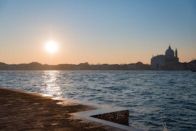 Sunrise over a wintry Venice Italy