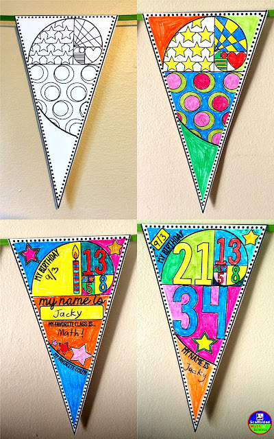 Golden Spiral Get to Know You Pennant {Back to School}