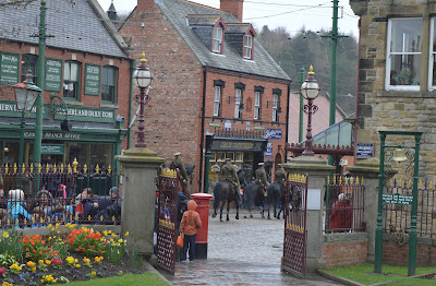 A Bus Trip to the Horses at War Event at Beamish - Horse parade in town