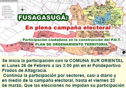 CRONOGRAMA DE PARTICIPACIÓN CIUDADANA EN EL P.O.T.