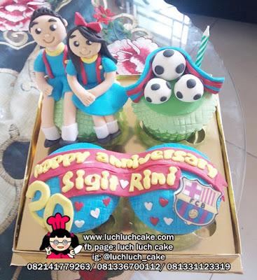 Cupcake Romantis Untuk Pacar Tema Barcelona