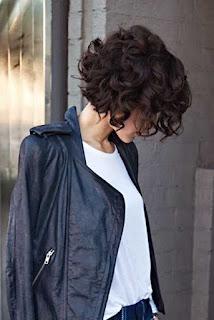 Short chin length curls