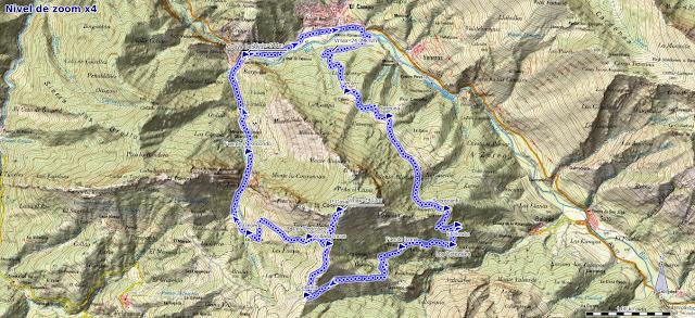 Mapa ruta Peña Casar Caso