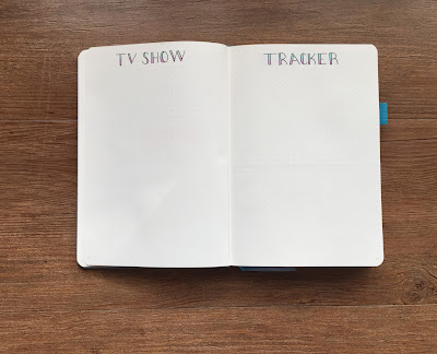 My 2018 Bullet Journal Set-up: TV Show Tracker