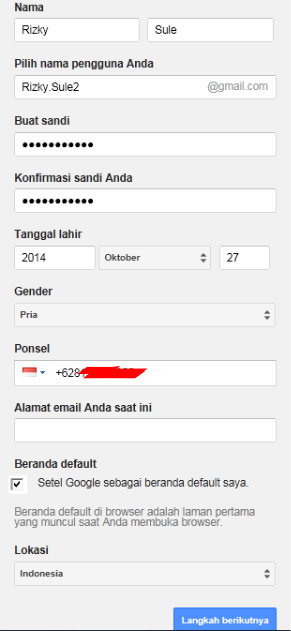 Mendaftar Email di Google