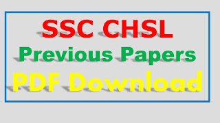 SSC CHSL Previous Papers PDF Download