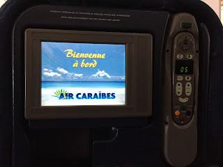 Avis compagnie aérienne Air Caraïbes Paris Fort de France divertissements