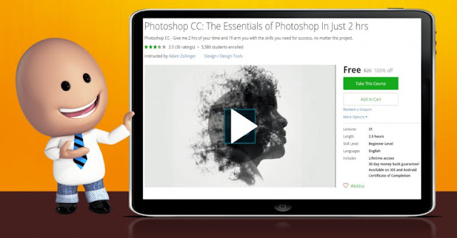 [100% Off] Photoshop CC: The Essentials of Photoshop In Just 2 hrs| Worth 20$