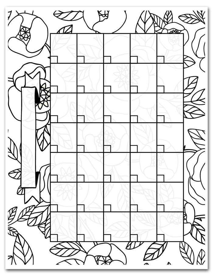 graphic relating to Printable Coloring Calendar identified as Absolutely free Printable Coloring Calendar i ought to be mopping the surface area
