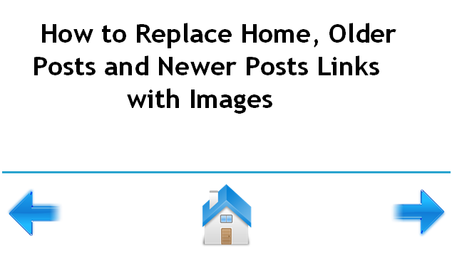 How to Replace Home, Older Posts and Newer Posts Links with Images