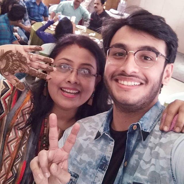 Rony Dasgupta with his mother Ranu Dasgupta
