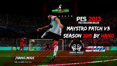 PES 2013 Maystro Patch v3 Season 2018/2019