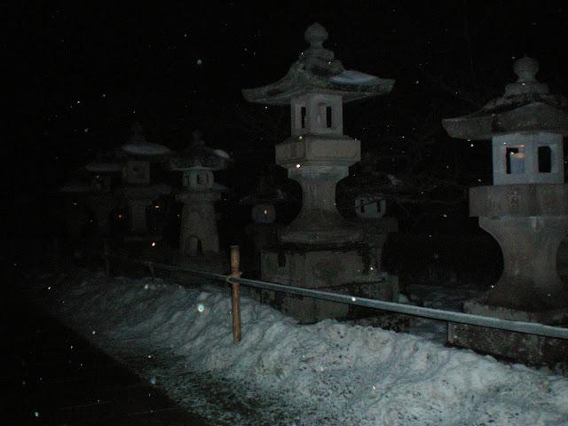 Templo Zenkoji de noche