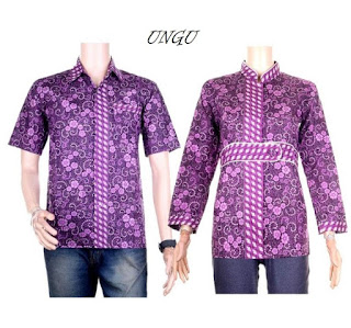 model baju batik couple pesta muslim