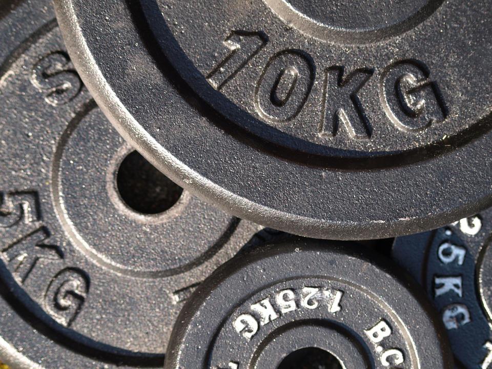 Discos pesas de gimnasio