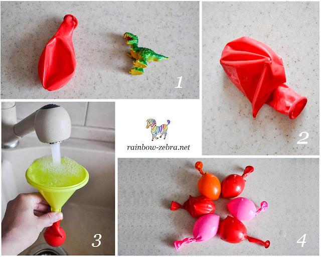 Как сделать яйца динозавров изо льда