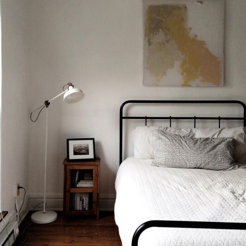 Slow living minimal rustic bedroom - found on Hello Lovely Studio