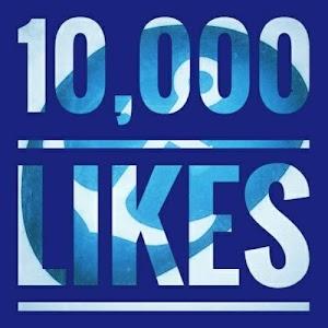 10,000 Likes - Ten Thousand likes on our Facebook Pgae