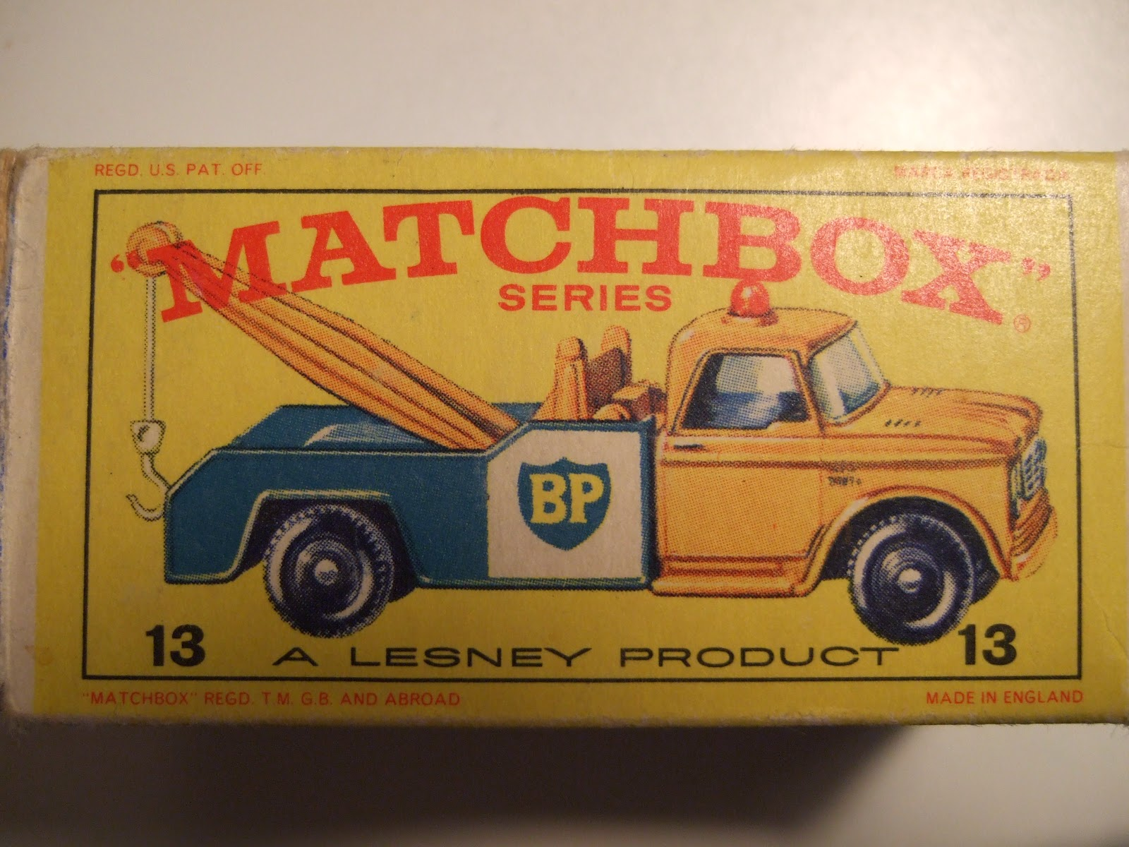 Matchbox Series 13d Dodge Bp Wrecker C1965 1970 Kens Toy Shelf 1954 Tow Truck