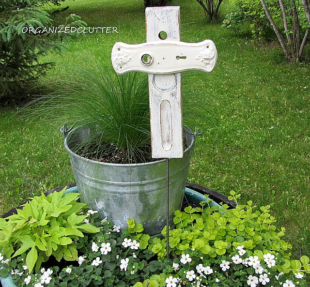 Repurposed Level & Knob Plate Shabby Chic Crosses for Easter & Memorial Day