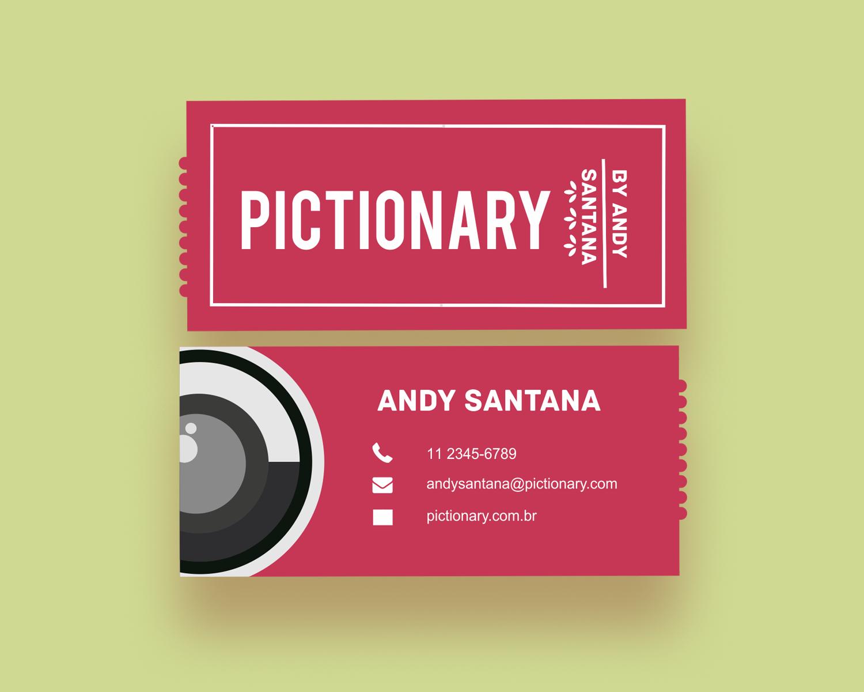 Cartão de visita Pictionary