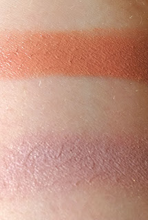 Swatches of Kjaer Weis Cream Blush in Precious and Kjaer Weis Eye Shadow in Angelic
