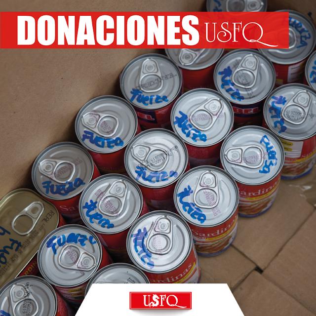 Donaciones con mensajes de ánimo se envían a las zonas afectadas.