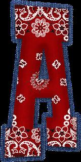 Abecedario con Tela de Cachemira. Alphabet with Cashmere Cloth.