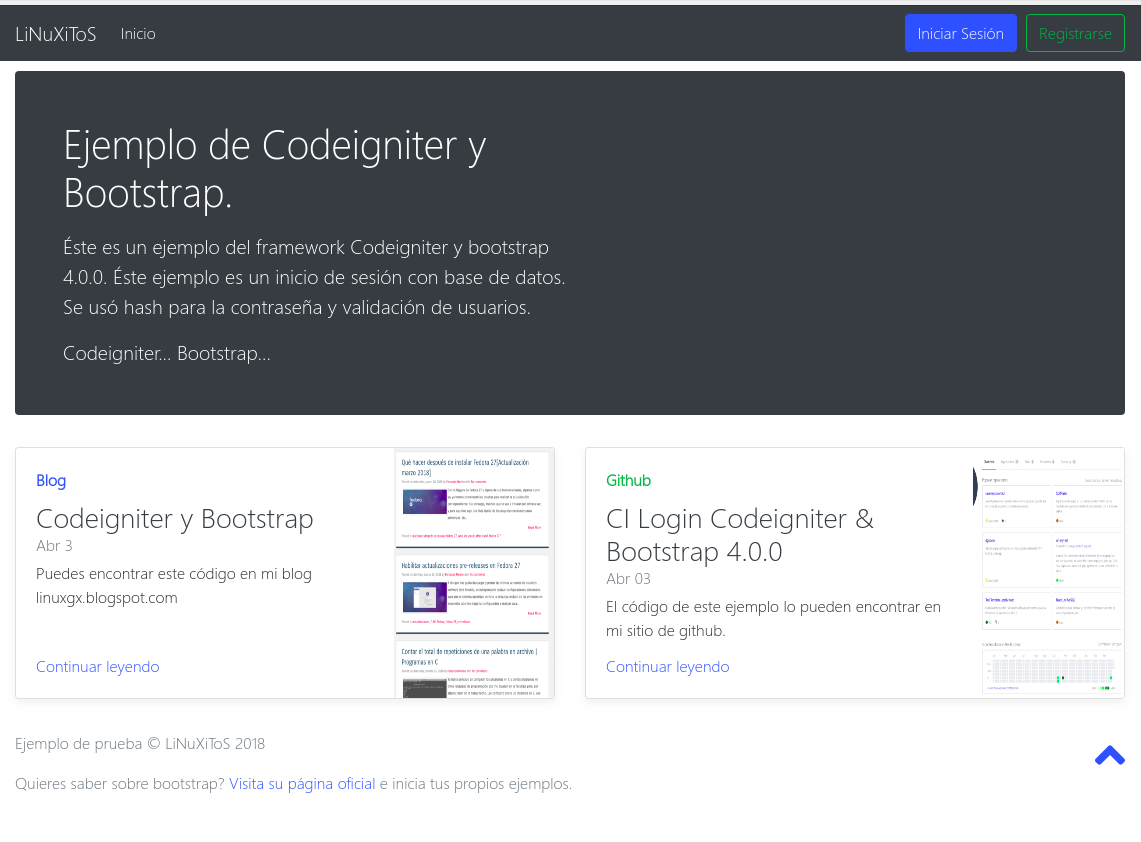 Login Bootstrap Codeigniter MySQL