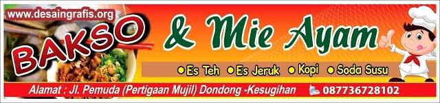 Desain Banner Bakso dan Mie Ayam cdr