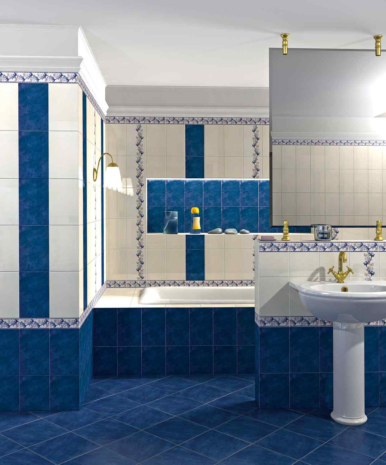 May 2018 - Blue bathroom tile ideas ...