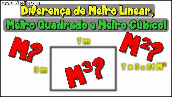 qual a diferença de metro linear quadrado e cubico