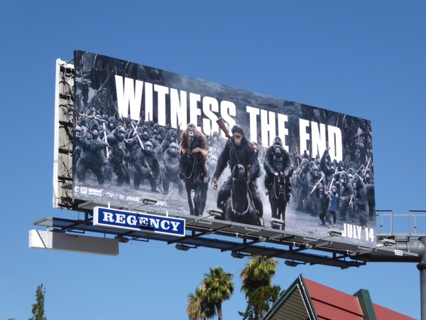 Witness end War for Planet Apes billboard