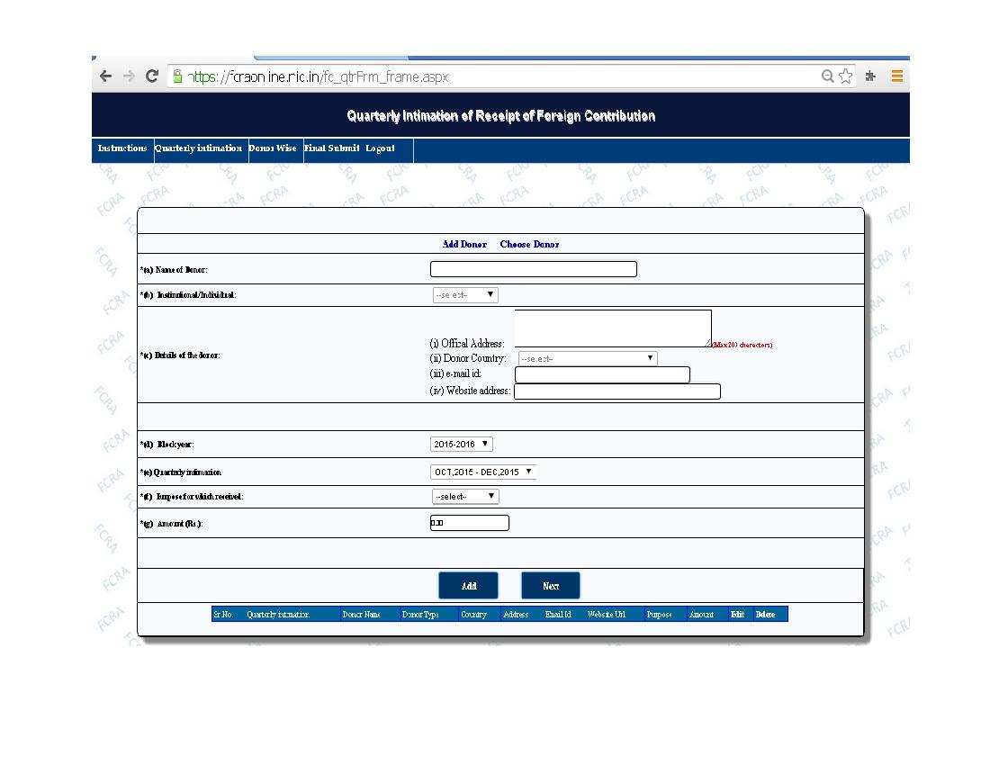 Fcra Online Registration Form 8