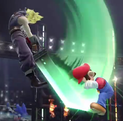 Cloud Super Smash Bros. For Wii U Mario