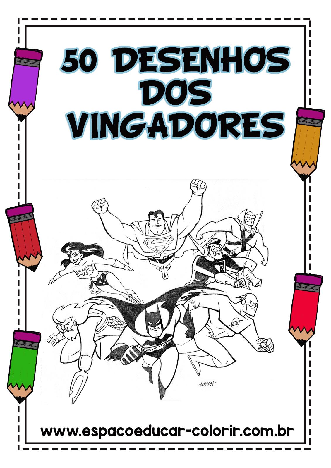 Apostila 50 Desenhos Dos Vingadores Em Pdf Gratis Para Baixar