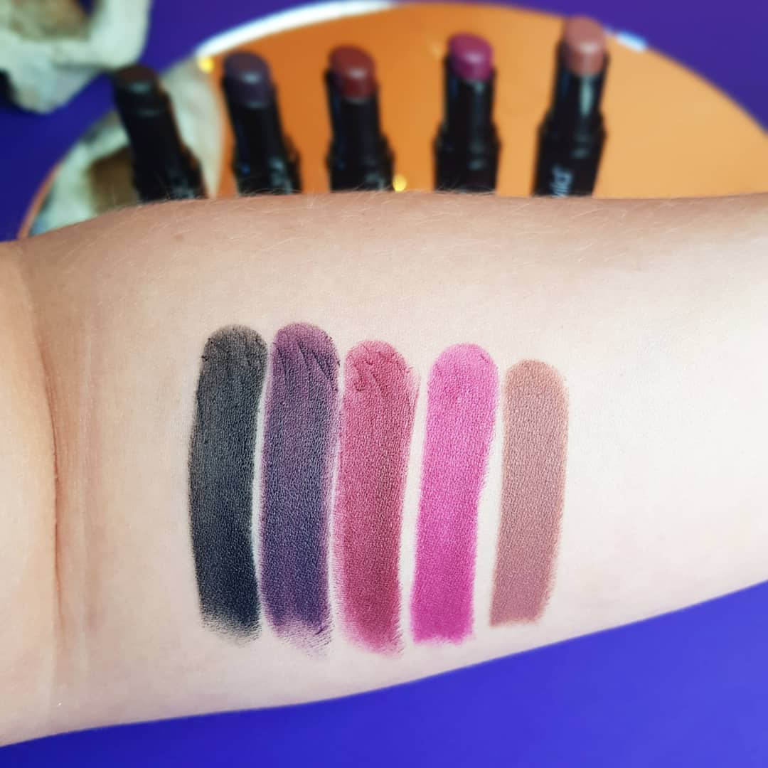 Wet n Wild Mega Last Lipstick Dark Shades Swatches