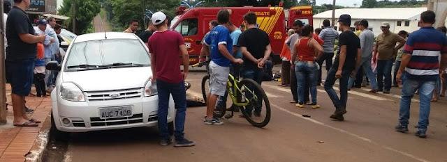 Roncador: Motociclistas fogem da Polícia e acabam sofrendo grave acidente