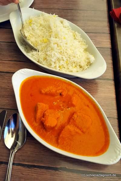 Chicken Tikka Makkhani im Sangam in Karlsruhe