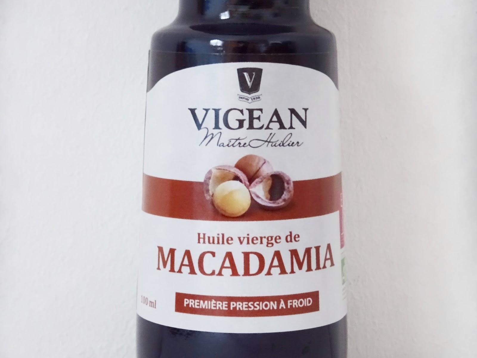 l 39 huile de macadamia vierge bio vigean