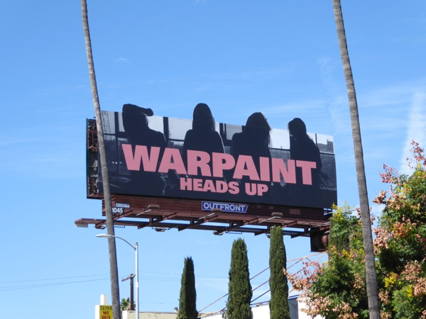 Warpaint Heads Up album billboard