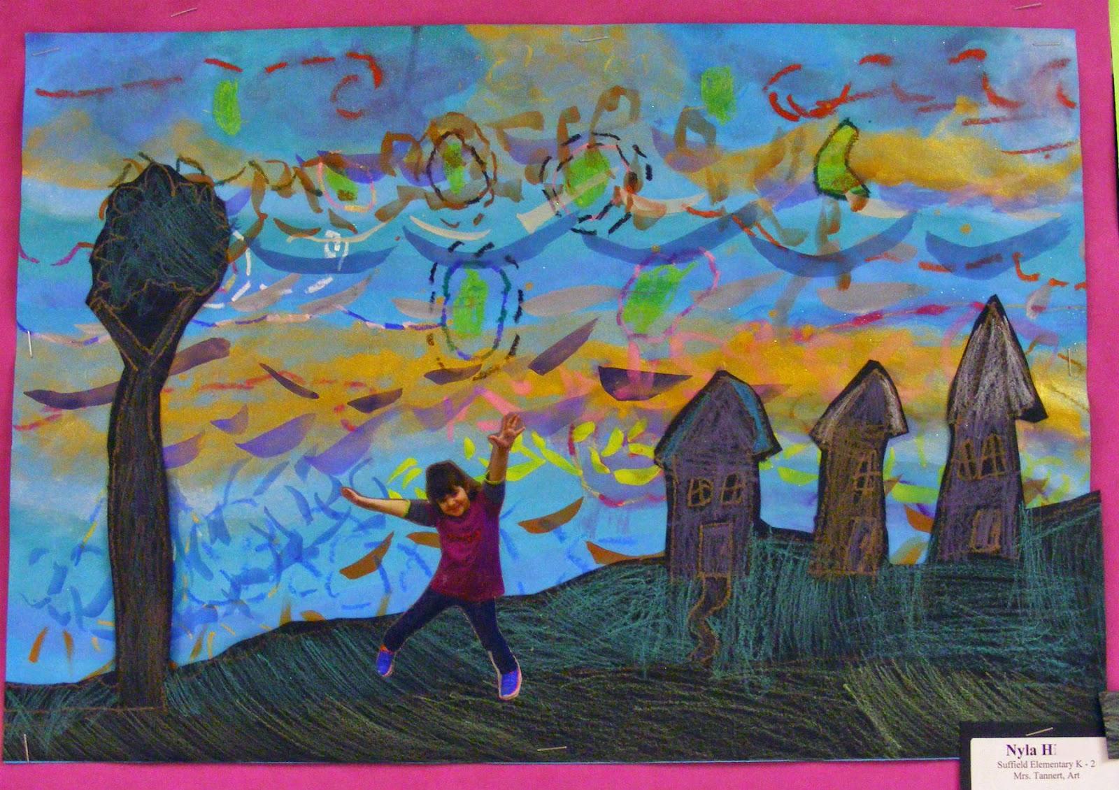 Suffield Elementary Art Blog Kindergarten Starry Nights