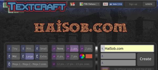 Membuat Logo Online di TEXTCRAFT
