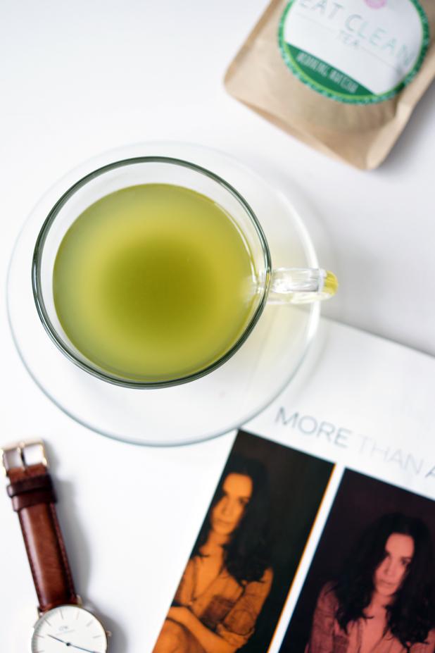Hello Freckles Eat Clean Tea Morning Matcha Tea Cup
