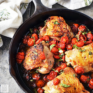 Easy Balsamic Chicken with Tomatoes | by Life Tastes Good