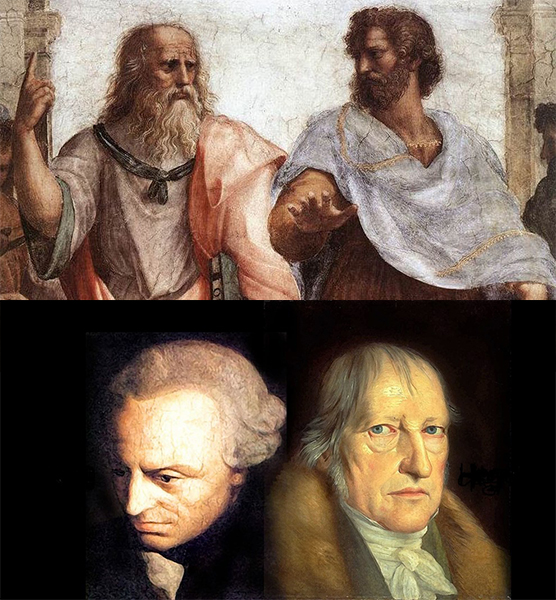 Great philosophers: Plato and Aristotle, Kant and Hegel